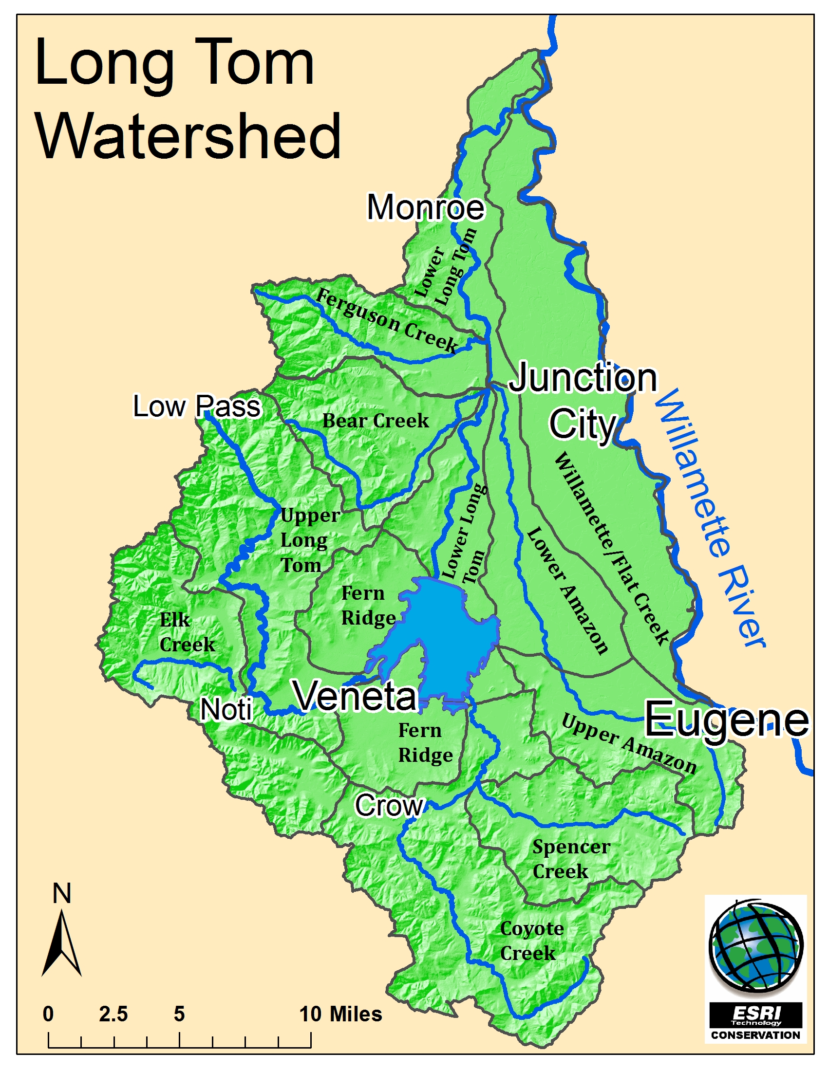 Map Library - Watershed map of us